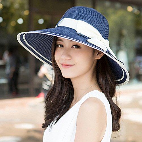 Mode Surker femmes pliant Summer Beach r¨¦glable chapeau de paille Chapeau de soleil caf¨¦ l¨¦ger