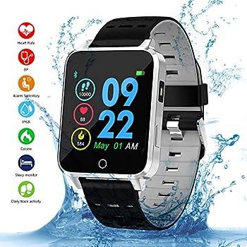 Smartwatch, Kivors Bluetooth SmartWatch IP68 Impermeable Relojes Inteligentes Pantalla Táctil con Monitor Cardiaco, Múltiples Modos de Deportes, ...
