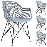 IDIMEX Lot de 4 chaises Alicante pour Salle à Manger ou Cuisine au Design Retro avec...