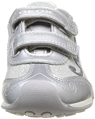 Geox JR NEW JOCKER D Mädchen Sneakers Silber (Silver)