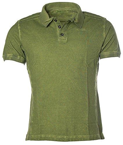 Signum Herren Kurzarm Shirt T-Shirt Poloshirt Polokragen Pikee Moos
