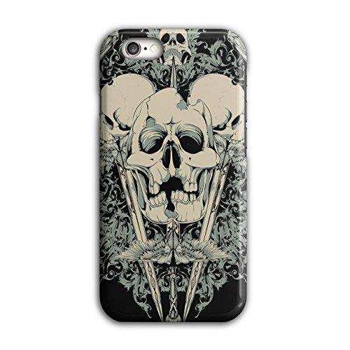 Tötlich Messer Krähe Schädel Riss Zähne iPhone 6 / 6S Hülle | (Zähne Schreck)