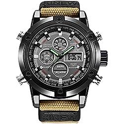 Montre Homme de Haute qualité Mouvement à Quartz Homme Montre Sport décontractée Montre à Quartz Intelligente Horloge Bracelet