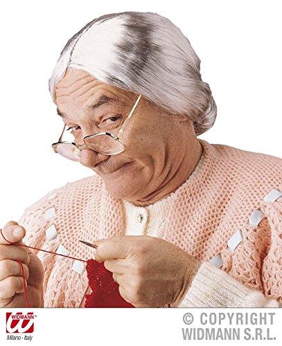 PERÜCKE - GROSSMUTTER -, Oma Omi Grandmother Greisin Alte Frau Rentnerin (Mann Halloween Kostüme Alter)