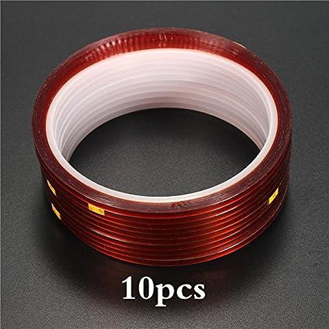 EsportsMJJ 10pcs 3mmx33m Heat Resistant Heat Press Tape Insulating Tape