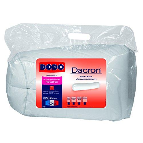 Dodo 100398140 MARS DACRON Traversin Polyester Coton Blanc 140 cm