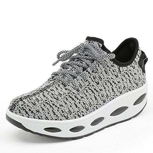 WZG Outdoor chaussures d'escalade filet creux chaussures chaussures à séchage rapide respirable mesh sport black (female)