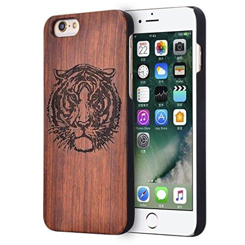 iPhone 7 Hülle, Vandot Holz iPhone 7 Schutzhülle Ultra Dünn Echtem Wood Hart Case Cover mit PC Hard Bumper Handytasche Retro Handmade Muster Patter Passgenaues Telefonkasten Handyhülle Handgefertigt R Design 5