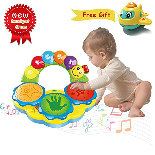 ACTRINIC Baby Toys 6 to 12 Months Baby Drums Piano Musical Instrument Early Education Musics/Lights/Funny Sounds Baby Toys for 1 2 3 4 Year Old Boys Girls Toddlers Kids Toys