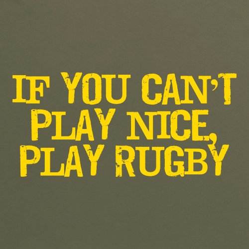 If You Can't Play Nice T-Shirt, Herren Olivgrn