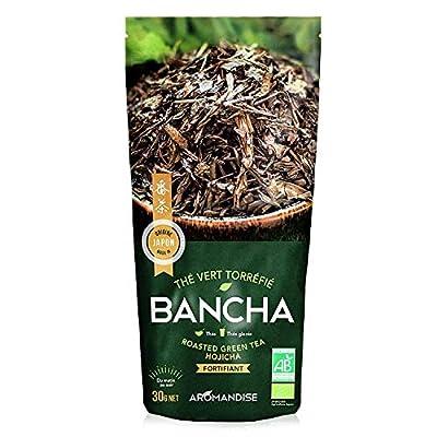 Aromandise Thé Vert Bio Japonais Torréfié Bancha Hojicha 30 g
