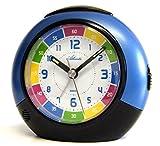 SET: Kinderwecker + Armbanduhr für Jungen Blau Analog ohne Ticken Lernwecker mit Licht Snooze Kinderuhr - Atlanta 1678-5 KAU hergestellt von Atlanta