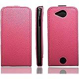 caseroxx funda tipo libro para Acer Liquid Jade / Jade Plus S55, Carcasa con flip para el smartphone (flip case en pink)