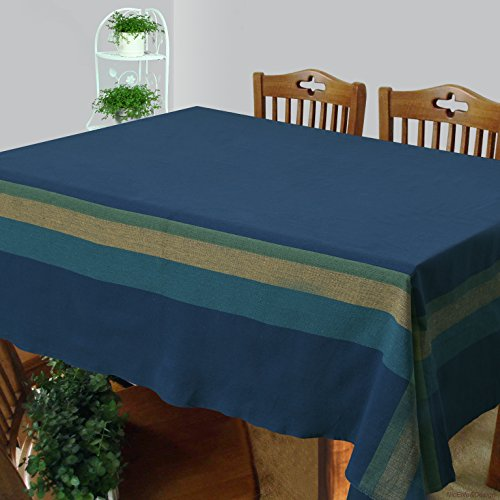 Dhrohar - Handloom Cotton Woven Table Cover for 6 Seater Table -...