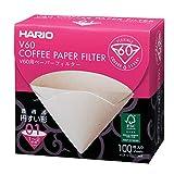 Hario VCF-01-100 - 100 Filtri di Carta per Macchina da caffè 1-2 Tazze Hario V60