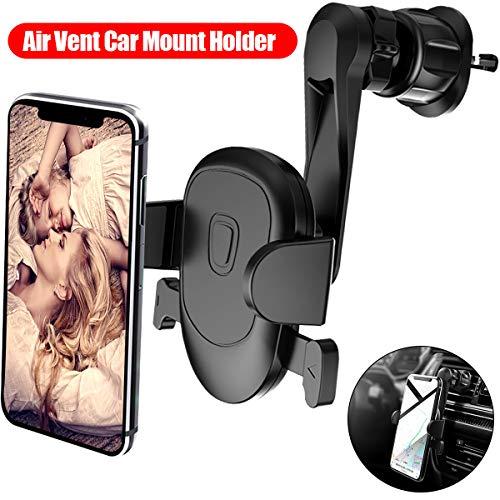 LISADE Handyhalter Fürs Auto, Universal 360 Grad Air Vent Telefonhalter, Ausziehbarem Arm Kompatibel mit iPhone XS/Xs Max/Xr/X, Samsung S10/a40/a50/a20e/a70, Huawei p smart 2019 -