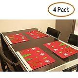 Weihnachten Tisch Matte Tisch-Sets Weihnachten Geschirr Dekoration Weihnachten Tisch Dekoration 4 Pcs