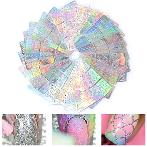 Exquisite 3D Nail Vinyls Schablone Nails Aufkleber Set, 24 Blatt 72 verschiedene Muster Designs Nail Art Sticker Tipps Decals Vorlagen (Wirklich Einfach Halloween-nägel)