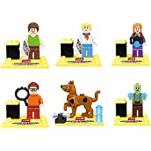 Bela 10449-10454 Scooby Doo Fred/Shaggy 6Pcs/lot Minifigure Building Block Bricks Toys Action Figure Compatible With Lego