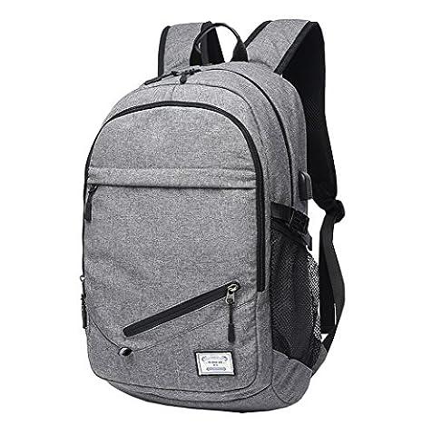 Student Rucksack, ACMEDE Laptop Rucksack 17 Zoll Notebook Computer Schulrusack/Schultasche Geeingnet für Jungen/Mädchen und Jugendliche ( Grau )