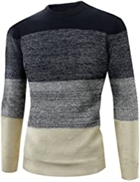 Zicac -Pull Homme Manches Longues Col Rond pour L`hiver