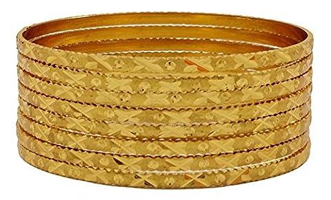 Matra Vergoldet Traditionelle 8 Stück Kada Armband Set Armreifen Schmuck 2*8