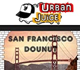 Urban Juice 10ml E-Liquid San Francisco Donut Nikotingehalt 0 mg/ml Karamellkeks Schokoladennote