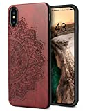 YFWOOD Wooden Case Compatible with iPhone XS Max for Gifts Unique Handmade Wood...