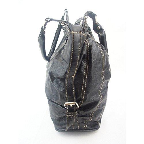 Zarla, da donna, misura grande, motivo: borsetta, borsa a tracolla, Borsa Hobo, per feste Nero (nero)