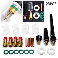 Rokoo 23pcs / Set TIG Soldadura Antorcha Lente de Gas Gas # 10 Pyrex Glass Cup Kit de Herramientas para SP WP-17/18/26