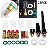 Rokoo 23 teile / satz Wig-schweißbrenner Collet Gas Objektiv # 10 Pyrex Glas Tasse Kit Tools Für SP WP-17/18/26