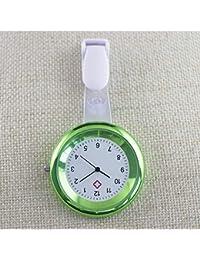 HSDDA Portable Hanging Nurse Watch Chest Watch Medical Brooch Fob Watch (Green)