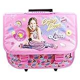 Disney Soy Luna Enjoy Love Ordner Trolley-Rucksack für den Kindergarten die als Snack Halt