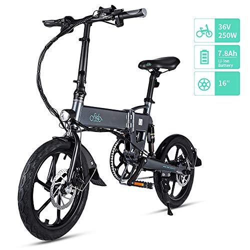 FIIDO D2/D2S Bicicleta Eléctrica Plegable, 7.8Ah 36V E-Bike 250W con 25km/h de Velocidad Ajustable para Unisex Adulto, Faro LED Delantero...