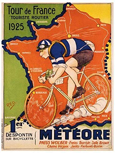 1925 Poster (NATHALIE LANCASTER Custom Tour De France C 1925 Home Decoration Photo Poster Prints 20 x 30 Inch Wall Sticker)