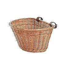 cesta de mimbre para bicicleta
