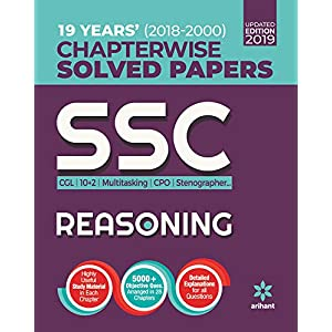 SSC Chapterwise Solved Papers Reasoning 2019 (Old Edition)