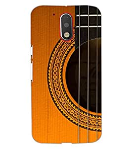 Printdhaba Guitar Strings D-5898 Back Case Cover For Motorola Moto G4