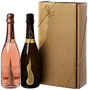 Le Bon Vin Vintage Prosecco and Sparkling Rose Wine Gift Set 75 cl (Case of 2)