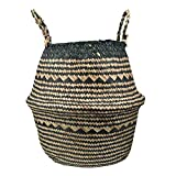 ypypiaol Stilvolle Seegras Gewebt Faltbare Spielzeug Kleidung Pflanzen Korb Home Storage Bucket Essential 1# XXXL