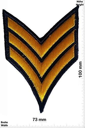 Patch - Sergeant Abzeichen 3 Streifen - gold - Military - U.S. Army - Air Force -Tactical - Arme - Bundeswehr - Militär - Patches - Aufnäher Embleme Bügelbild Aufbügler (Force Abzeichen Air Us)