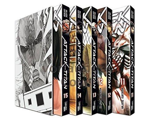 Attack on Titan, Bände 11-15 im Sammelschuber mit Extra
