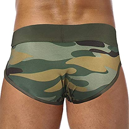 Soupliebe Calzoncillos Hombre Transpirables Pantalones Sexy Ropa Interior Hombres Calzoncillos con la impresión Calzoncillos camuflados Lenceria Hombre Boxer Briefs