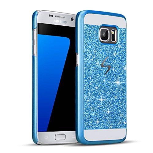 Samsung S7 Edge Schutz Bling Hart Case - Sunroyal Diamant Luxus Kristall Strass Glitzer Shining Hard Back Cover Schale Handy Tasche Etui Hülle für Samsung Galaxy S7 Edge