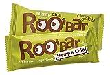 ROO'BAR Hanfprotein & Chia - 20 Stück (20x 30g) - Rohkost-Riegel mit Superfoods (bio, vegan, glutenfrei, roh)