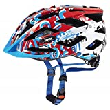 Uvex Kinder Air Wing Fahrradhelm, White/Red, 52-57 cm