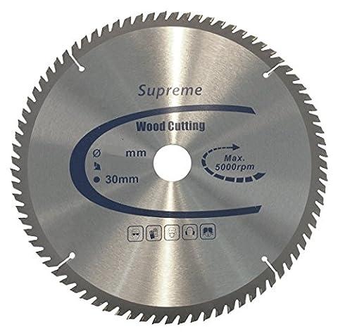 TCT Supreme High Performance Circular Wood Saw Blade 216mm x 30mm Bore x 60 Teeth