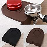 Antiscivolo caffè manuale barista pressino per caffè espresso latte Art Pen Holder silicone Pad Mat accessori da cucina, Nero, 15.8 * 12.7cm