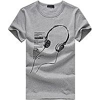 Tosonse Camiseta para Mujer Tops Trabajo Cuello Redondo Blusa Tanques Imprimir Camisas De Manga Corta Cool tee Túnica Algodón