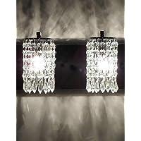 GOUD Lampada da parete 120W applique da parete moderna con pendenti in cristallo e 2 luci in cromo lucido , 220-240v